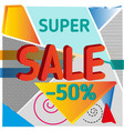 super sale abstract background vector image