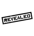 Revealed rubber stamp vector image
