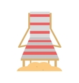 chair beach wooden and sand vector image