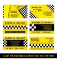 Business card taxi - tenth set vector image