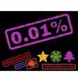 001 Percent Rubber Stamp vector image
