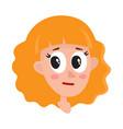 pretty blonde hair woman neutral facial vector image
