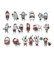 Funny people collection for your design vector image vector image