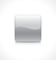 Square silver button vector image