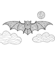 Bat coloring book for adults vector image