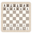 chess board with figures vector image