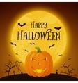Happy Halloween pumkin background vector image