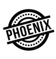 phoenix rubber stamp vector image