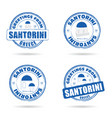 santorini greek island grunge rubber in blue and vector image