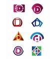 Set of letter D logo Branding Identity Corporate vector image