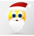 Sunta emoticon emoji smiley vector image