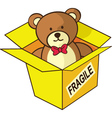 teddy bear gift vector image