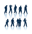 Teenagers silhouettes vector image