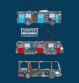 transport mechanics and mechanisms vector image