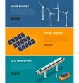 Web backgrounds eco power sources such as wind vector image