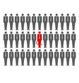 devil crowd vector image vector image