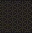 Islamic pattern design in black background vector image