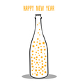 champagne with the stars vector image