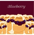 blueberry muffin with jam vector image