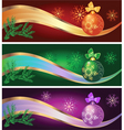 set of new year backgrounds vector image vector image