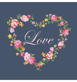 Vintage Floral Heart - for Valentines Day vector image