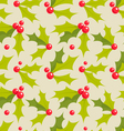 holly pattern vector image