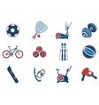 Sport equipment symbols vector image