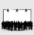 people silhouette under the light vector image vector image