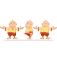 Cartoon of Chinese Boy for Computer Game vector image vector image