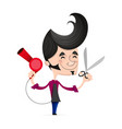 barber fashion style vector image