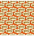 Cloud with inscription Boo seamless pattern vector image