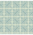 Retro silver blue vintage floral seamless pattern vector image