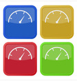 set of four square icons with dial symbol vector image