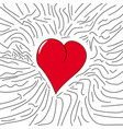 vintage and cartoon heart vector image