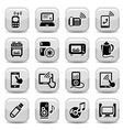electronic devices icons set vector image