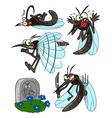 Mosquito set vector image