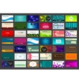Set of 42 business cards on different topics vector image
