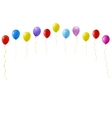 set of colourful balloons vector image