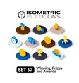 Isometric flat icons set 57