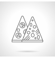 Mexican pizza flat thin line icon vector image
