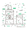 Dental tooth rinse linear vector image
