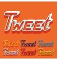 Flat design tweet vector image
