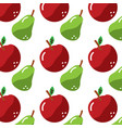 fruit apple and pear fresh seamless pattern vector image