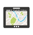 gps map app icon vector image