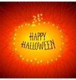 Halloween pumpkins from strained threads vector image