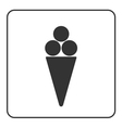 Ice cream icon 2 vector image
