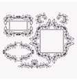 Set of frames and borders vector image
