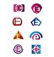 Set of letter E logo Branding Identity Corporate vector image