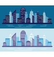 Two flat banners vector image