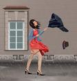 Windy Rainy Day vector image